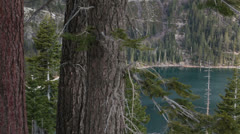 Lake Tahoe California Emerald Bay pan HD 5334 Stock Footage