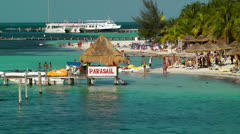 Vacationers at a Resort in Cancun Stock Footage