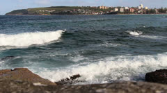 View of Manly, from Queenscliff in Sydney Stock Footage