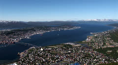 Norway - Tromso Panoramic - Travel destination -  Northern Europe Stock Footage