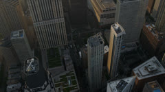 Aerial vertical view Chicago skyscrapers, Chicago, USA Stock Footage