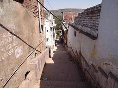 The narrow way Stock Photos
