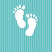 Stock Illustration of baby boy announcement card. vector illustration