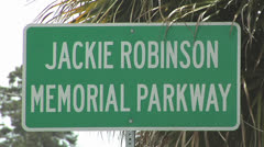 JACKIE ROBINSON PARKWAY SIGN IN CAIRO GEORGIA USA Stock Footage