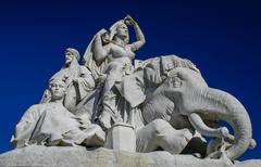 statue at albert memoral in london - stock photo