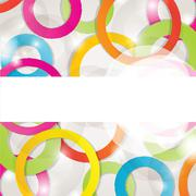 Abstract background with circles and squares - stock illustration