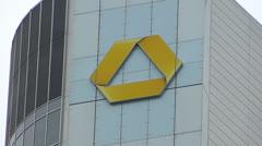 Commerzbank Frankfurt am Main Financial district Germany Stock Footage