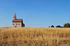 Romanesque style church Stock Photos