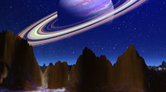 Planet similar to Saturn Stock Footage