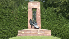 The Alsace-Lorraine monument, the Armistice clearing at Compiègne, France Stock Footage