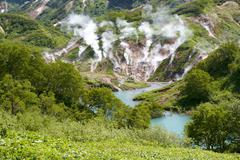 geysers, volcano - stock photo