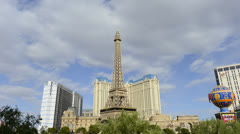 Paris Hotel Las Vegas Stock Footage