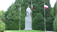 Stock Video Footage of The statue of Marshal Foch at the clearing at Compiègne, France.