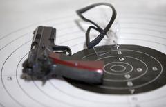 Guns shooting range Stock Photos