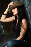 despondent woman - stock photo