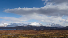 Rannoch Moor Zoom out Stock Footage