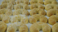 Vanillekipferl - vanilla crescents Stock Footage