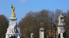 Queen Victoria Monument CU 03 Stock Footage
