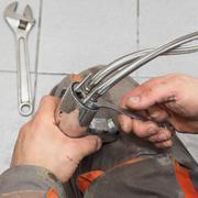 plumber work - stock photo