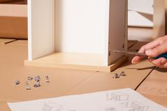 assembling of table - stock photo