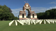 The Thiepval Memorial to the Missing of the Somme, France. Stock Footage