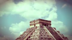 Kukulkan Pyramid at Chichen Itza Stock Footage