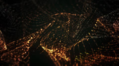 Particle dots and curves Stock Footage
