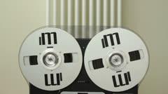 Retro Audio tape recorder, close up HD Stock Footage