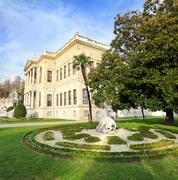 Dolmabahce palace at autumn - istanbul Stock Photos