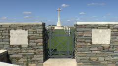 CWGC Redan Ridge Cemetery no 3, Beaumont-Hamel, France Stock Footage