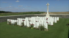 CWGC Serre Road No 3, Beaumont-Hamel, France Stock Footage