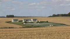 Cimetière National de Serre Hébuterne, Beaumont-Hamel, France Stock Footage