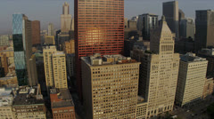 Aerial view Chicago waterfront, Willis Tower Chicago, USA - stock footage