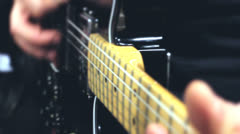 Stock Video Footage of Close-up of electrical guitar strings