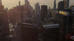 Aerial skyline view Chicago skyscrapers, Chicago, USA - stock footage