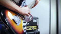 Close-up of a guitar - stock footage