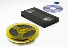 Evolution of data storage for media Stock Photos