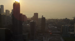 Aerial Cityscape view of Skyscrapers, Chicago, USA Stock Footage