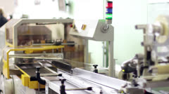 production line in a factory - stock footage