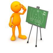 3d guy: raapiminen mukkelis jalkapallo strategia Piirros