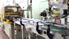 Assembly line of detergent Stock Footage