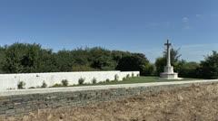 CWGC Redan Ridge Cemetery no 1, Beaumont-Hamel, France Stock Footage