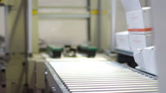 Factory making boxes Stock Footage