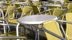 Empty street cafe Stock Footage