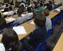 Students in lecture room. Stock Footage