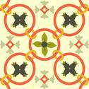 Seamless colourful ornament tiles Stock Illustration