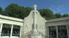 The South African Commemorative Museum, Delville Wood, Somme, France. Stock Footage