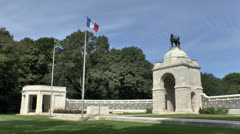 The South African National Memorial at Delville Wood, Somme, France. Stock Footage