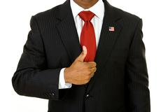 Politician: man gives big thumbs up Stock Photos