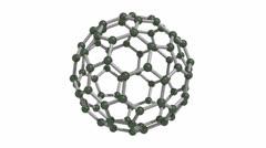 Spinning C80 Fullerene - stock footage